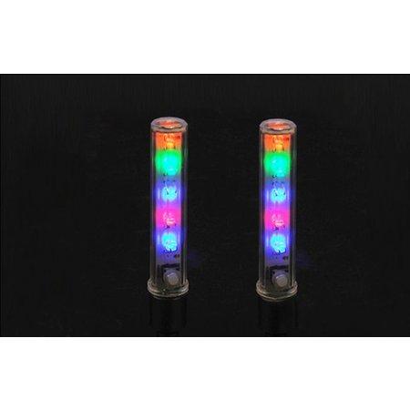 Fietswielverlichting - LED Ventielverlichting - 5 Kleuren - Meerdere Knippervariaties - Incl. Batterijen - Ook voor Motor, Brommer, Auto