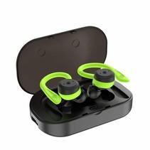 Draadloze Waterproof Oordopjes - Bluetooth 5.0 - Super Bass Sound Met Ingebouwde TWS-Technologie -Verwisselbare Kleine en Grote Over-Oorhaken in Koptelefoon Voor Customized Fit