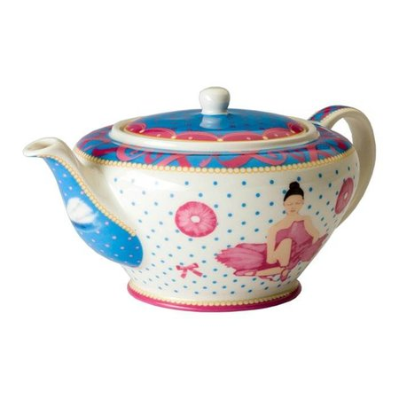 Cupkes Teapot with Ballet Design | Porcelain | 1.2 liters