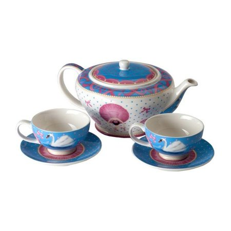 Cupkes Cup and Saucer Set Swan Lake Porcelain | 150 ml