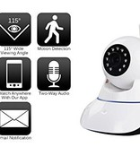 CARAMELLO Draadloze 1080P IP-Camera WIFI (2Mb) , WiFi-bewakingscamera voor Baby /Ouder/Huisdier/Oppas Monitor, Rotatie/Lift, Tweerichtings Audio & Nachtzicht
