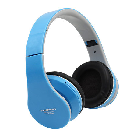 Bluetooth Foldable Stereo Over-Ear Headphones with Built-in FM Radio Built-in Microphone