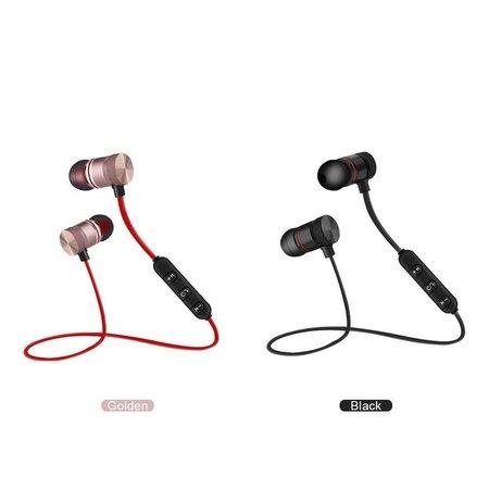 Drahtlose Ohrhörer | Sportohren mit Mikrofon Geeignet für alle Bluetooth-Smartphones wie Apple iPhone, Android Samsung und Huawei Gold