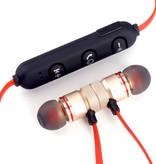 Draadloze in ear oordopjes | Sport oortjes met microfoon | Geschikt voor alle bluetooth smartphones zoals Apple iPhone, Android Samsung en Huawei | Goud