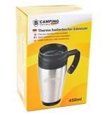 B Camping Germany Thermobeker to go | Koffiebeker | Metalen Beker voor Onderweg | Drinkbeker | Reisbeker | 450 ml