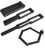 Faltschloss Fahrrad | Rahmenschloss für Moped / Motor | 85 cm lang | Aus gehärtetem Stahl gefertigt Mit Tragetasche