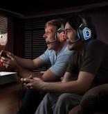 Arkartech Gaming Headset met Microfoon voor Xbox One PS4 PC Switch Tablet Smartphone, Koptelefoon Stereo Over Ear Bass 3.5mm Microfoon Ruisonderdrukking 7 LED Licht Soft Memory Oorbeschermers (gratis adapter)