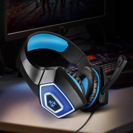 Arkartech Stereo-Gaming-Headset für PS4, PC, Xbox One Controller, Noise Cancelling Over Ear-Kopfhörer mit Mikrofon, LED-Licht, Bass-Surround, Soft-Memory-Ohrenschützer für Laptop-Mac Nintendo-Switch-Spiele - Copy