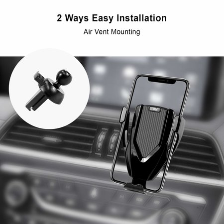CARAMELLO Draadloze Qi Oplader Auto - Samsung - iPhone - Ventilatierooster Of Dashboard