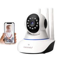 Draadloze 1080P IP-Camera WIFI (2MP) , WiFi-bewakingscamera voor Baby /Ouder/Huisdier/Oppas Monitor, Rotatie/Lift, Tweerichtings Audio & Nachtzicht
