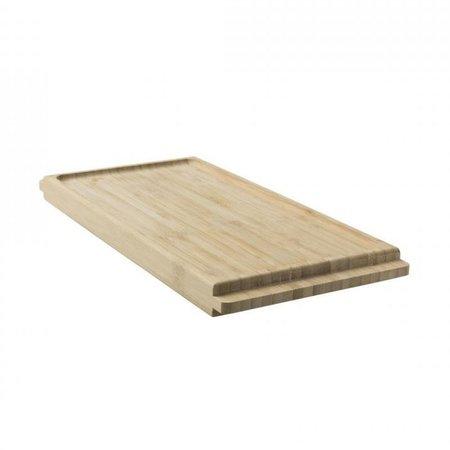 Bamboe Snijplank - Serveerplank Met Beker & Bakjes Houder
