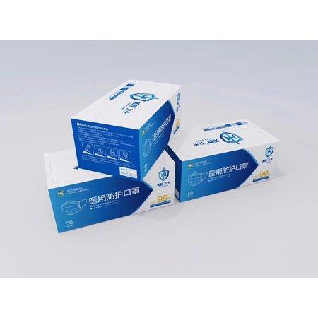 Mondkapjes met elastiek - Mondmasker - 3 Laags! per 50 stuks