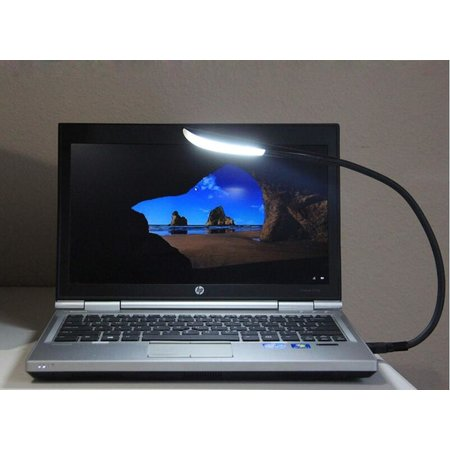 CARAMELLO Laptop Lamp USB - Flexibele arm - Leeslamp Dimbaar - 3 Sterktes - 14 LEDS - met Ganzennek - Soft Touch