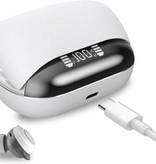 CARAMELLO Draadloze Oordoppen met Display met Batterij-indicator op Oplaadstation - Bluetooth In-Ear Oordopjes - Wit