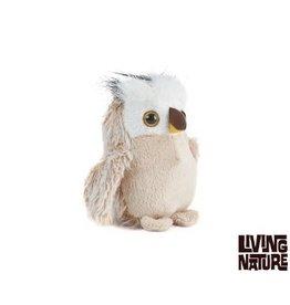 Living Nature Uil Knuffel,  13 cm groot, 2 stuks