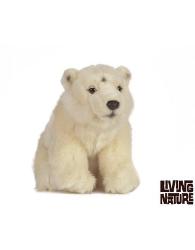 Living Nature Knuffel IJsbeer zittend, 30 cm