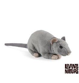Living Nature Knuffel Rat met geluid
