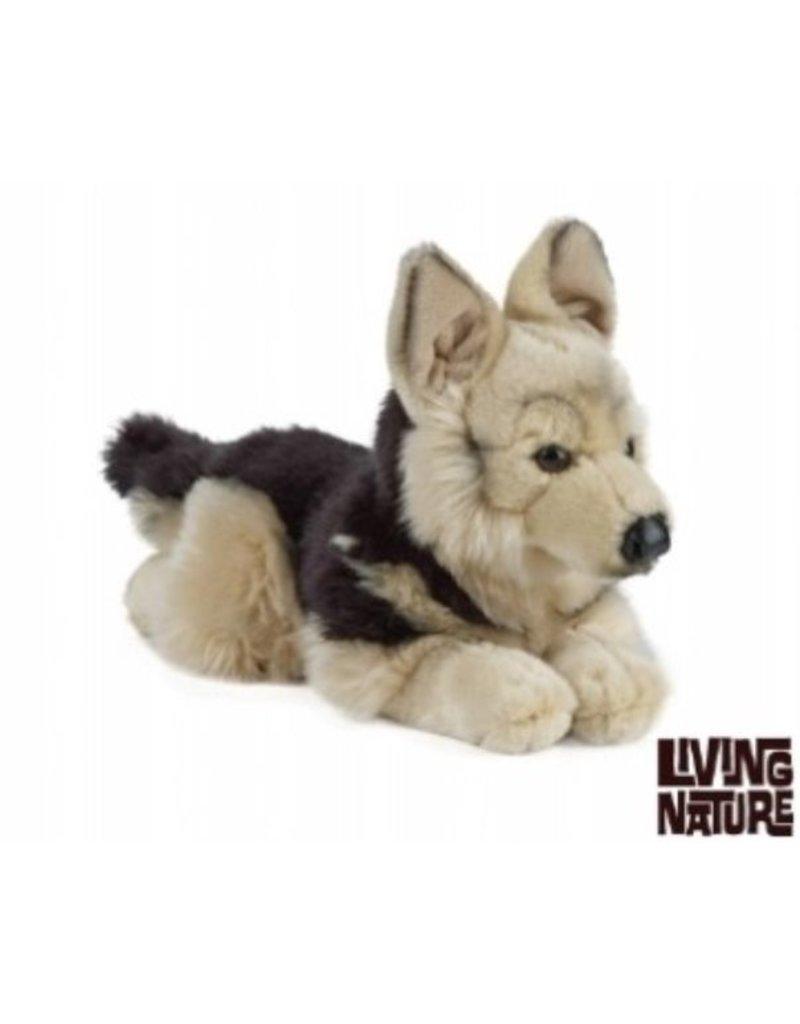 Kleurplaten Honden Duitse Herder.Living Nature Duitse Herder Knuffel
