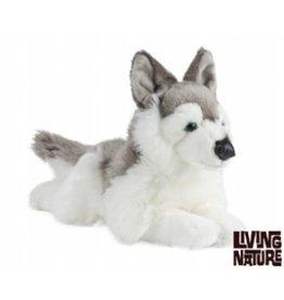 Living Nature Husky Knuffel liggend