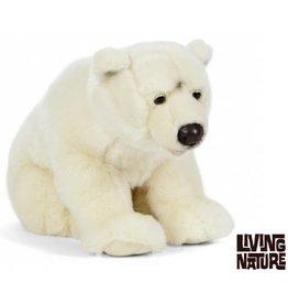 Living Nature Knuffel IJsbeer Groot, 45 cm