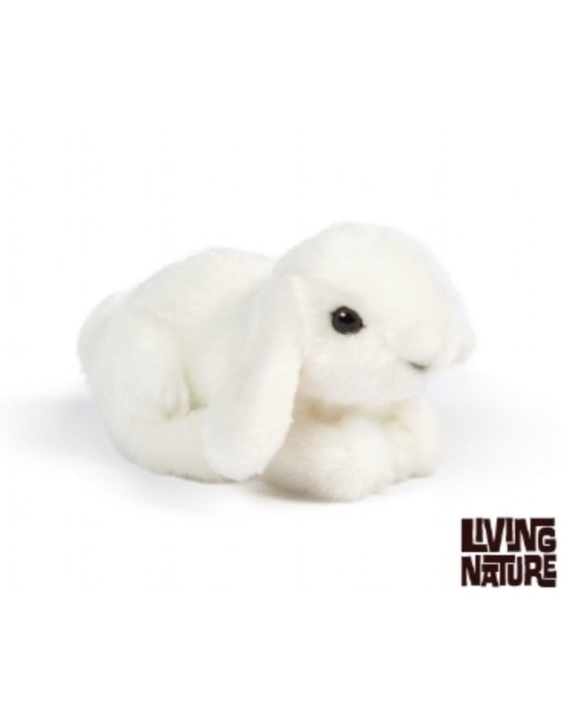 Living Nature Knuffel Konijn Wit, 16 cm