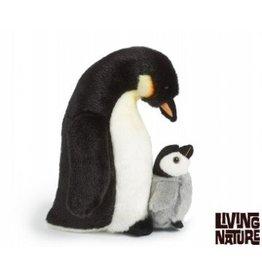 Living Nature Knuffel Pinguin met kuiken