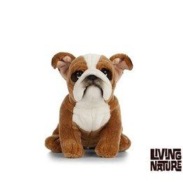 Living Nature Engelse Bulldog Knuffel, 24 cm