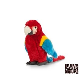 Living Nature Knuffel Papegaai Rood