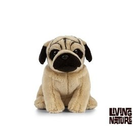 Living Nature Knuffel Mopshond, 24 cm