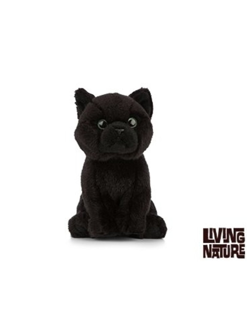 Living Nature Knuffel Poes zwart, Living Nature