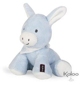 Kaloo Les Amis Knuffel Ezel Blauw, 19 cm