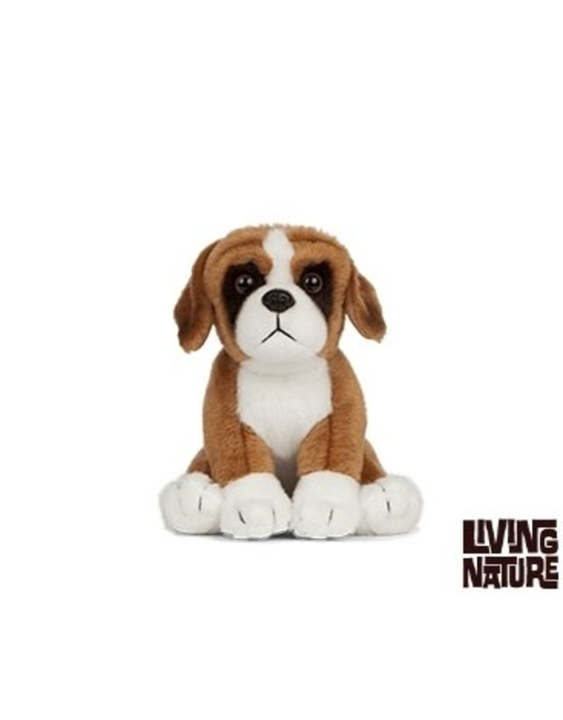 Living Nature Hond Knuffel Boxer Puppy, 15 cm, Living Nature