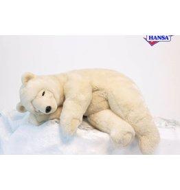 Hansa IJsbeer Knuffel slapend, 75 cm