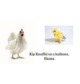 Hansa Kip Knuffel met 2 kuikens, Hansa