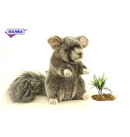 Hansa Chinchilla Knuffel, 18 cm, Hansa