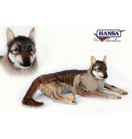 Hansa Wolf Liggend, 125 cm, Hansa