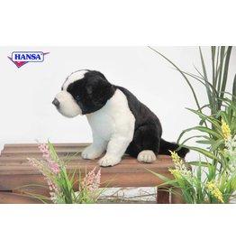 Hansa Knuffel Border Collie Pup Zittend 25 cm