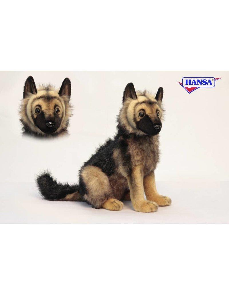 Kleurplaten Honden Duitse Herder.Hansa Duitse Herder Knuffel 38 Cm Hansa