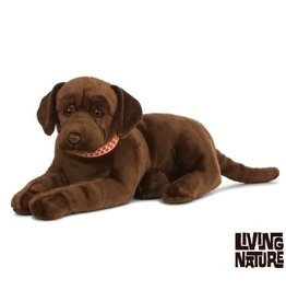 Living Nature Giant Labrador Knuffel groot, bruin, 60 cm