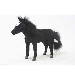 Hansa Knuffel Paard zwart, 36 cm, Hansa