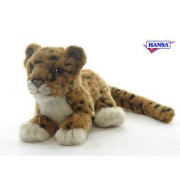 Hansa Jaguar Welp bruin liggend 26 cm
