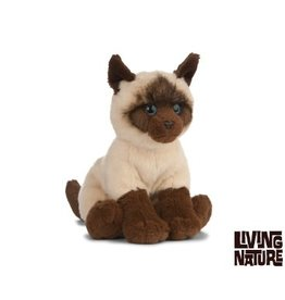 Living Nature Siamese Kat Knuffel, 20 cm, Living Nature
