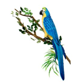 Hansa Papegaai Knuffel, Goud Blauwe Ara 72 cm