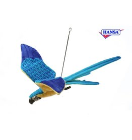 Hansa Ara Vliegend Blauw & geel 76 cm
