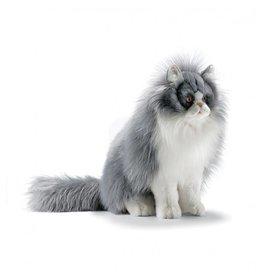 Hansa Perzische kat knuffel grijs