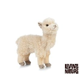 Living Nature Alpaca Knuffel Creme, Living Nature