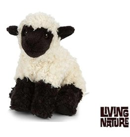 Living Nature Knuffel Lammetje, zwart met wit, Living Nature