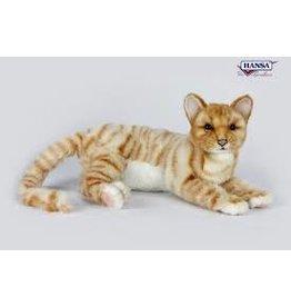 Hansa Ginger Kat Liggend 37cm, Hansa