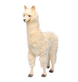 Hansa Alpaca Knuffel groot wit, Hansa