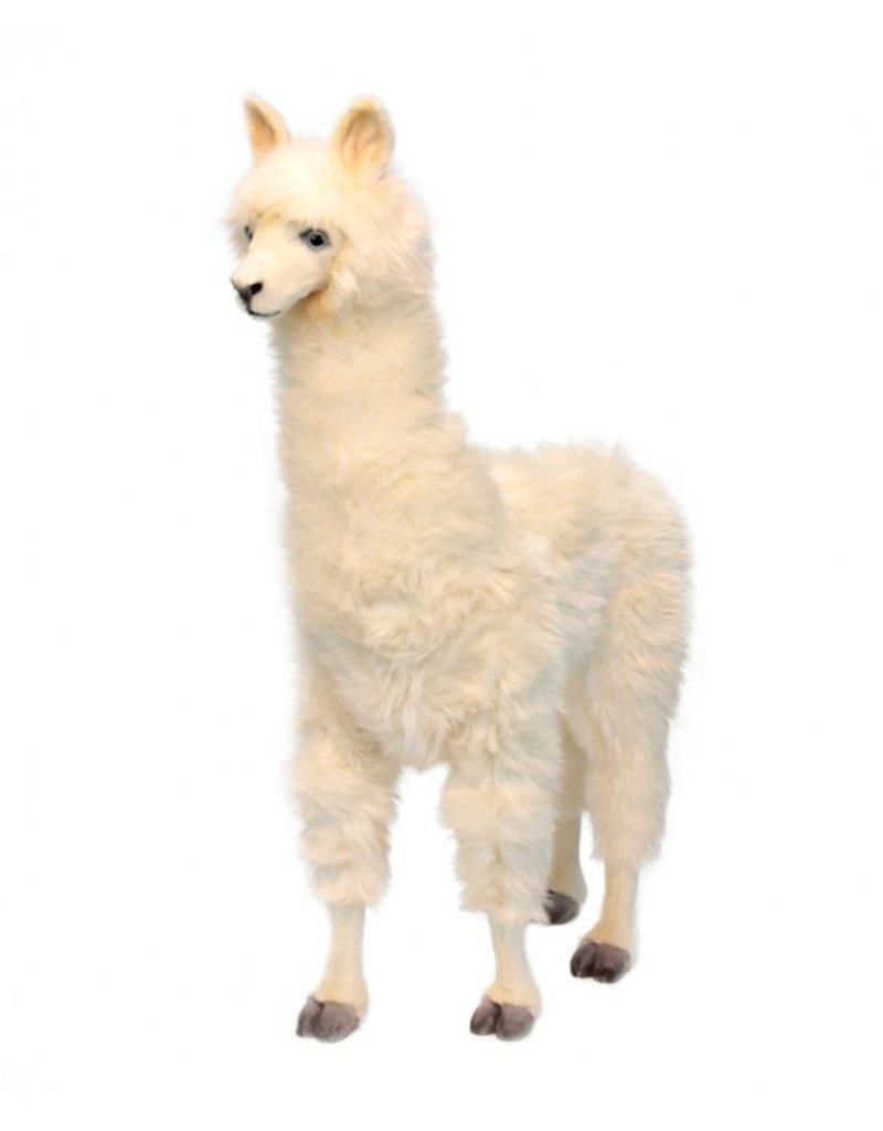 Hansa Alpaca Knuffel groot wit, Hansa, 165 cm